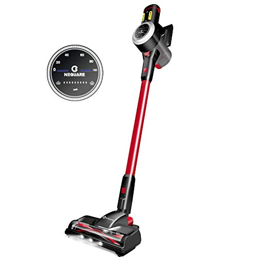 NEQUARE Cordless Vacuum, 23Kpa Super Suction Pet Hair Vacuum Cleaner, 30min Runtime with Intelligent LED Screen, 4 in 1 Cordless Stick Vacuum Easy Empty Dust Bin Upgraded LED Brush for Carpet Hardwood