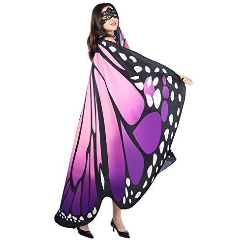 SIPU Butterfly Wings for Women, Monarch Soft Butterfly, Pinkpurple, Size 6653'