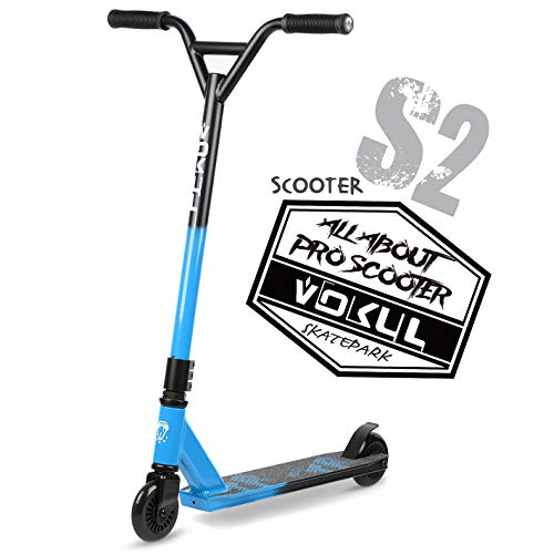 VOKUL Pro Stunt Scooter with Stable Performance - Best Entry Level Tricks Freestyle Pro Scooter for Age 7 Up Kids,Boys,Girls - CrMo4130 Chromoly Bar - Reinforced 20' L4.1 W Deck …