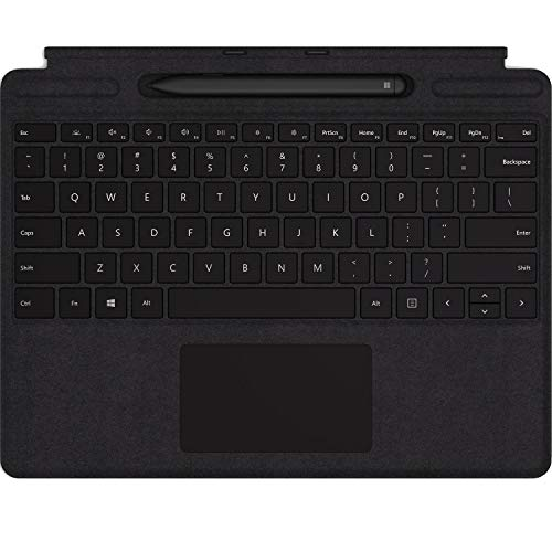 MICROSOFT Surface Accessories MICROSOFT Surface PRO X Signature Keyboard with Slim Pen Bundle - Keyboard - with TRACKPAD - Backlit - QWERTY - US - Black - Commercial - for Surface PRO X