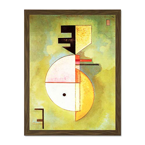 Doppelganger33 LTD Wassily Kandinsky Upward Old Art Painting Large Framed Art Print Poster Wall Decor 18x24 inch Supplied Ready to Hang