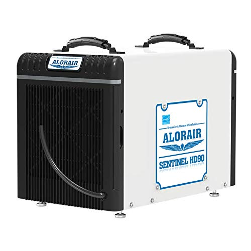 AlorAir Basement/Crawl Space Dehumidifiers 198 Pint (Saturation), 90 PPD (AHAM), Energy Star Listed, 5 Years Warranty, Auto Defrosting System, cETL, up to 2,600 sq. ft, Optional Remote Monitoring