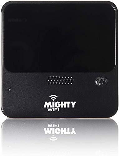 MightyWifi Cloud Black Worldwide high Speed Hotspot with US 30GB & Global 3GB Data for 30 Days, Pocket Mifi, Personal, Reliable, Wireless Internet, Router, No Sim Card, No Roaming, Home, Travel