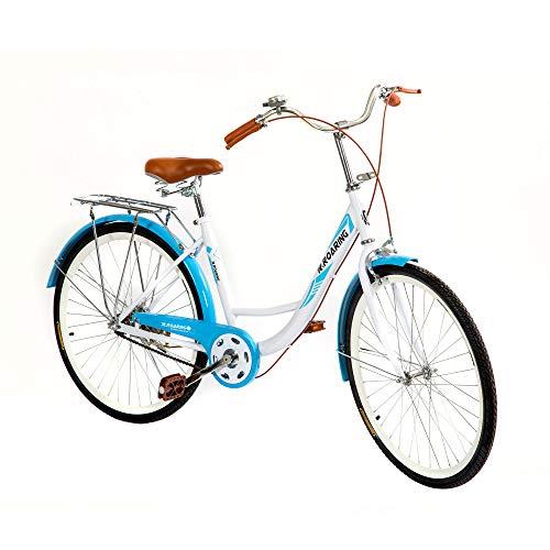 HGmart Womens Comfort Commuter Bike Single Speed 26-Inch Beach Cruiser Bike Rear Racks Bicycle Road Bikes,Blue