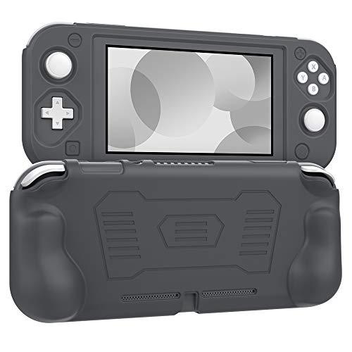 MoKo Grip Case Compatible with Nintendo Switch Lite, Anti-Collision Non-Slip Shockproof Silicone Case Cover Shell Compatible with Nintendo Switch Lite 2019 - Gray