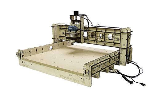 BobsCNC Evolution 4 CNC Router Kit with the Router Included (24' x 24' cutting area and 3.3' of Z travel)