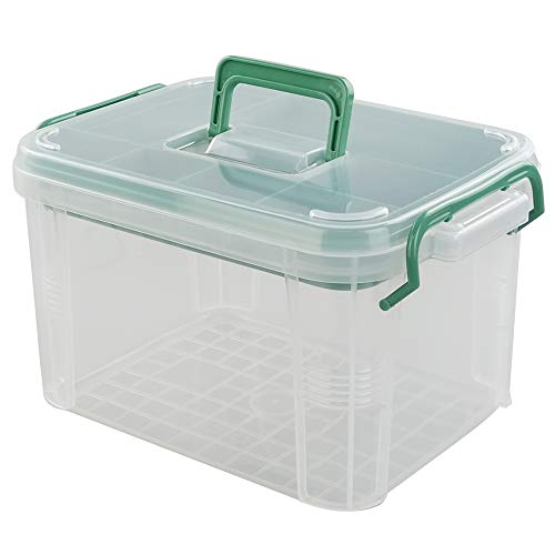 CadineUS First Aid Kit Container, Clear Organizer Box, Medicine Storage Organizer