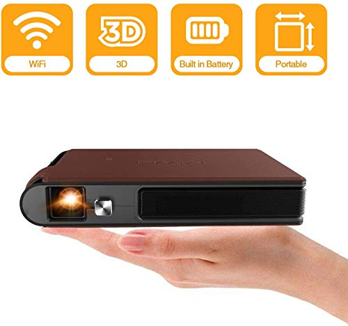 2021 Mini Pocket Wifi Projector 3D DLP 3600 Lumens WXGA HD LED Portable Wireless Video Projectors Support 1080P Airplay HDMI USB Auto Keystone Battery Pico for Gaming Home Theater Outdoor Movie Camp
