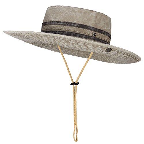 Waterproof Outdoor Bucket Mesh Hat Summer Sun Cap Boonie Fishing Camouflage Hat Khaki