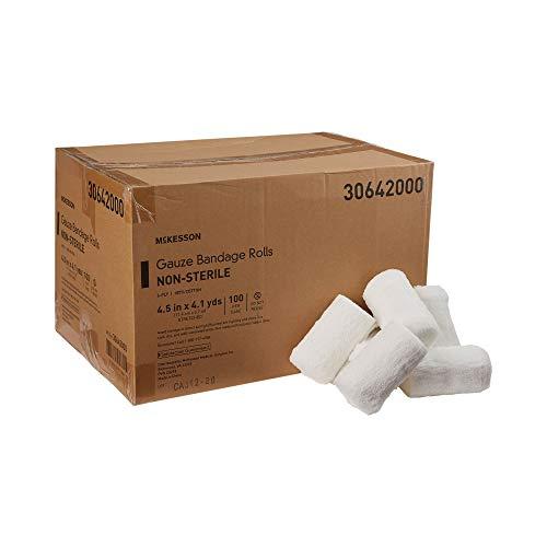 McKesson White Fluff Bandage Roll 4.5' x 4-1/10 yd 30642000 100 per Case