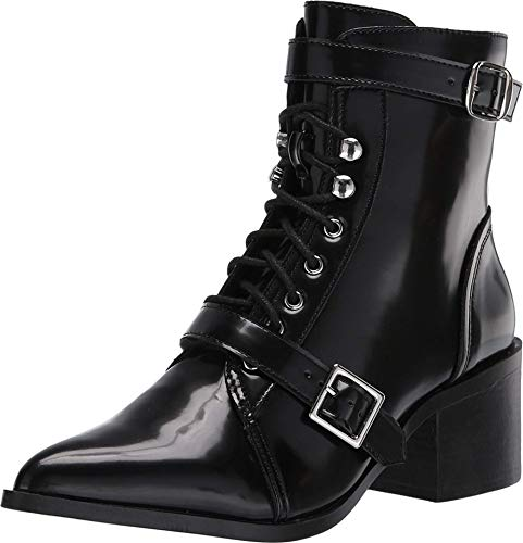 Steve Madden Astrid Lace-Up Boot Black 8 M