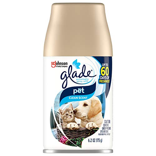 Glade Automatic Spray Refill, Air Freshener for Home and Bathroom, Pet Clean Scent, 6.2 Oz