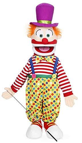 25' Clown w/ Hat, Full Body, Ventriloquist Style Puppet