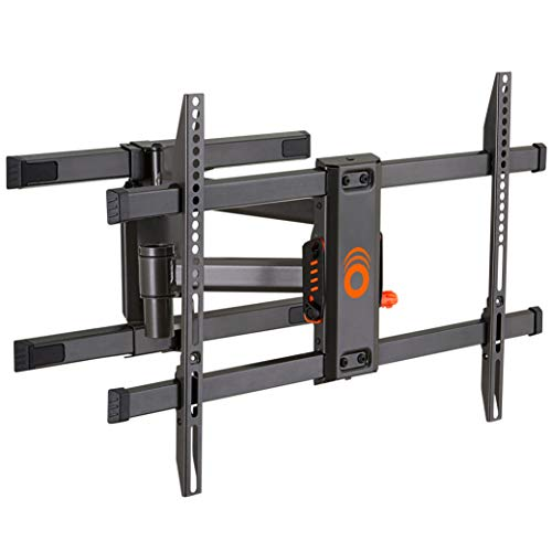 ECHOGEAR Swivel Articulating TV Wall Mount Bracket for TVs Up to 82' - Full Motion Extension & Tilt - Wall Template for Easy Install - Centers & Levels After Mounting Plus Hides Your Cables