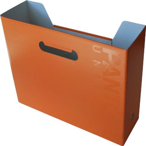 Pantone Horizontal File Box, A4 Wide, Flame Orange, Pack of 2 (50235-89261-0)