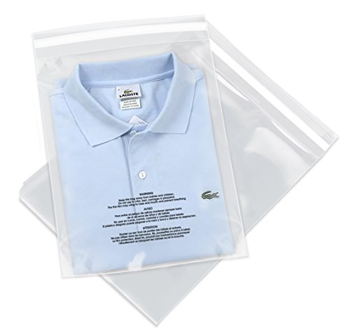 "Spartan Industrial || 1000 Count - 11"" X 14"" Self Seal Clear Poly Bags with Suffocation Warning for Packaging, T Shirts & FBA (More Sizes Available) - Permanent Adhesive"