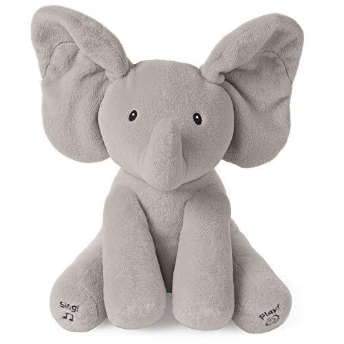 Baby GUND Animated Flappy the Elephant Stuffed Animal Plush, Gray, 12'