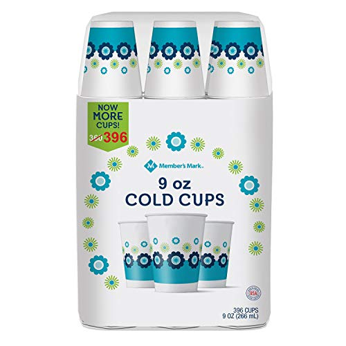 Member's Mark Paper Cold Cups, 9 Ounce, 396 Count