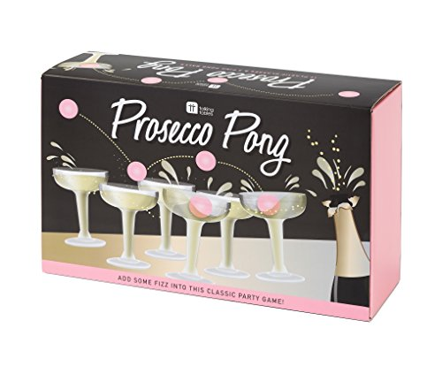 Talking Tables Prosecco Pong Bachelorette Party Drinking Game, 12 Glasses