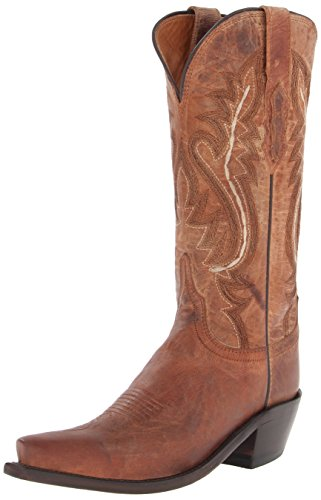 Lucchese Bootmaker Women's Cassidy-tan Mad Dog Goat Riding Boot, 7.5 B US