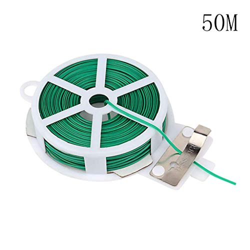 Ywoow Easter Sale Kitchen Bag Gardening Plant Green Tie Wire Roll with Wire Cutter 20/30/50 Garden Flowers and Trees Cable tie Environmental Protection Coated IRO