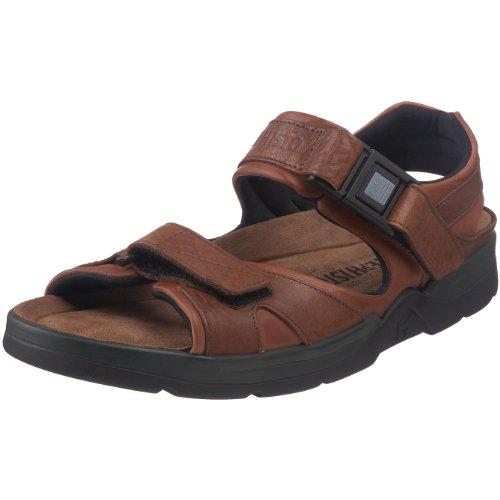 Mephisto Men's Shark Sandals Chestnut Waxy/Tan Grain Leather 11 M US