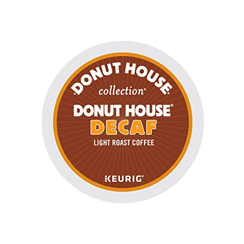 Donut House Collection Decaf, Single-Serve Keurig K-Cup Pods, Light Roast Coffee, 24 Count