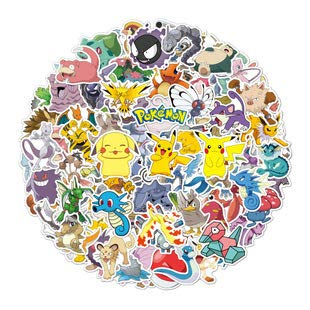 Pokemon Stickers for Hydro Flask,   100 PCS   Vinyl Waterproof Stickers for Laptop,Skateboard,Water Bottles,Computer,Phone, Cute Anime Stickers (Pokemon)
