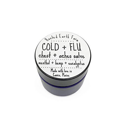1 oz Organic Chest Rub Natural Cold and Flu Salve Sinus Congestion Sick