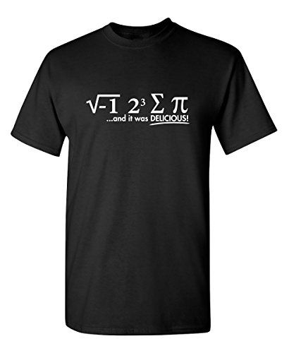 I Ate Some Pi Graphic Novelty Sarcastic Funny T Shirt L Black