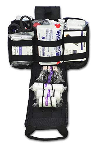 Lightning X Spread Eagle Complete Tactical Gunshot & Trauma IFAK Kit w/ Laser Cut MOLLE - Black