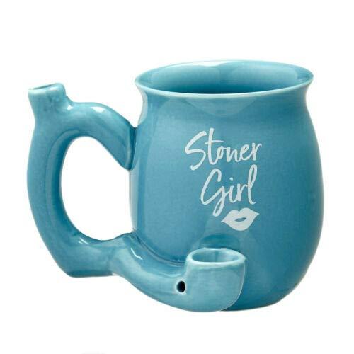FASHION CRAFT STONER GIRL ROAST AND TOAST IMPRINT MUG (blue)