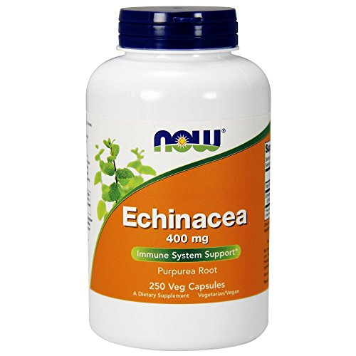 NOW Supplements, Echinacea (Purpurea Root) 400 mg, Immune System Support*, 250 Veg Capsules