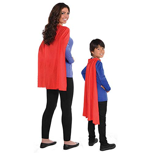 Amscan 395888.4 Solid Red Costume Cape, 30'