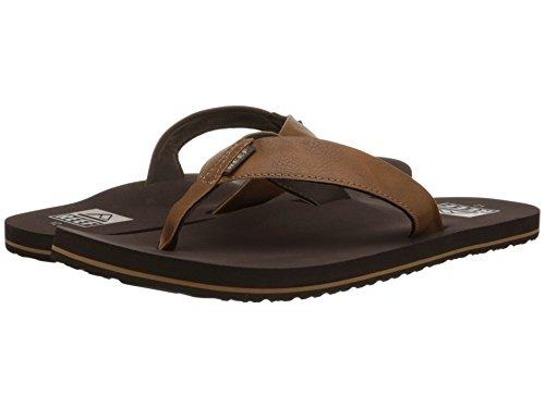 Reef Men's Sandal Twinpin | Comfortable Men's Flip Flop With Vegan Leather Upper, Grey, 11