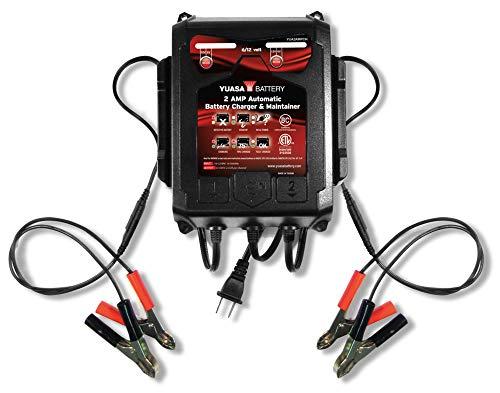 Yuasa YUA2AMPCH 6/12V 2-Amp 2-Bank Battery Charger 50 State Compliant