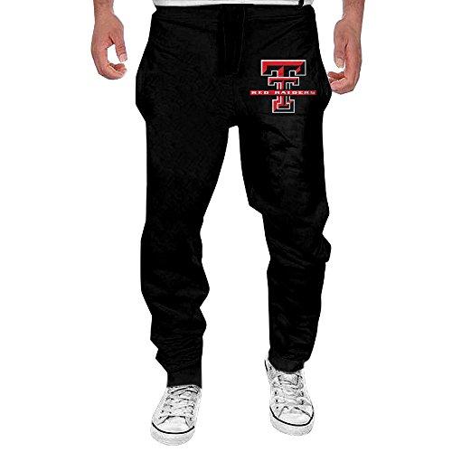 Men's Texas Tech University Red Raiders Elastic Jogger Sweatpants Black L