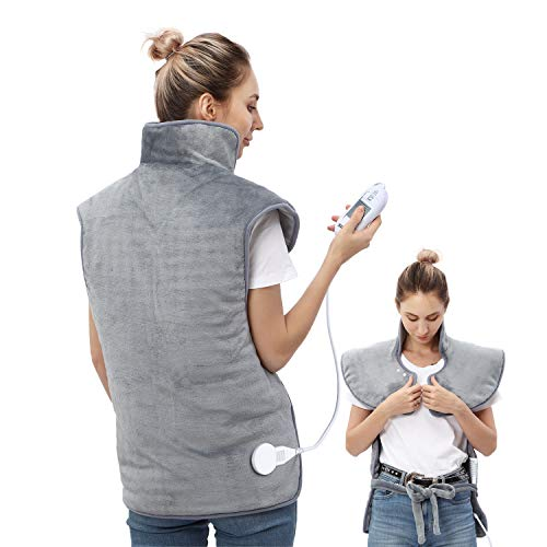 Heating Pad for Back and Shoulder, Electric Heating Pad for Back and Neck Pain Relief,3 Heat Settings-Auto Shut Off, 22.5'' × 31''