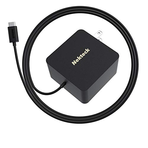 Nekteck 45W USB C Wall Charger with Power Delivery, Laptop Fast Charging Adapter Built-in 6ft Type C Cable for MacBook, Dell XPS, Surface Go, Pixel, Galaxy (NOT Ideal for Note10/S10/10+PPS)