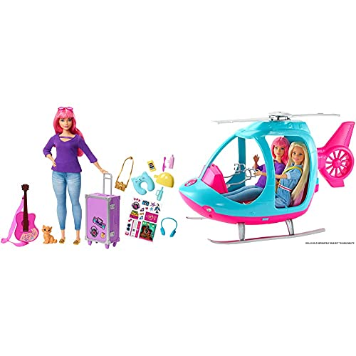Barbie Travel Helicopter AND Barbie Daisy Travel Doll