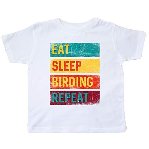 inktastic Bird Watching Gift Eat Sleep Birding Toddler T-Shirt 2T White 337db