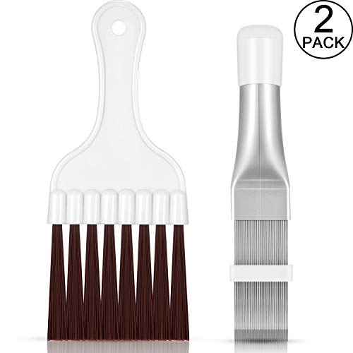 Air Conditioner Condenser Fin Comb, Fin Cleaning Brush Air Conditioner Fin Cleaner Refrigerator Coil Cleaning Whisk Brush Metal Fin Evaporator Radiator Repair Tool (2)