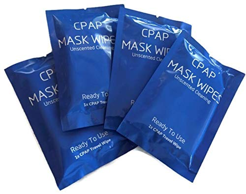 CPAP Mask and Equipment Wipes, CPAP Travel Wipes Cleaner, Individually Wrapped 6 in by 8 in Wipes (25pack)