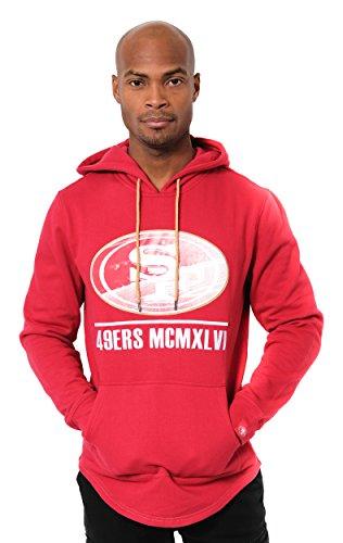 Ultra Game NFL San Francisco 49ers Mens Embroidered Fleece Hoodie Pullover Sweatshirt, Team Color, Medium