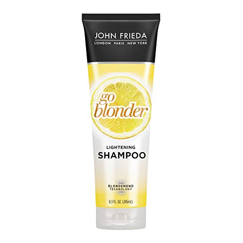 John Frieda, Sheer Blonde Shampoo Gradual Shampoo Ounce with Featuring Our BlondMend Technology, Go Blonder Lightening, Citrus and Chamomile, 8.3 Fl Oz