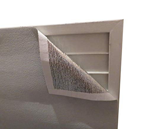 MWS Residential Fan Shutter Cover Attic Exhaust Vent Stop Sealer Door Insulation Kit