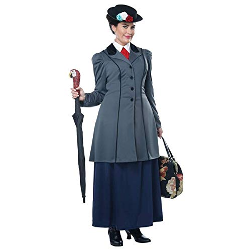 California Costumes Size English Nanny-Adult Plus Women Costume, Gray/Navy, XXX-Large