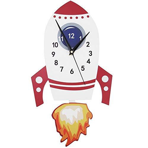 Fdit1 Cartoon Mute Wall Clock Kids Unique Gifts Pendulum Children's Bedroom Decor Clock