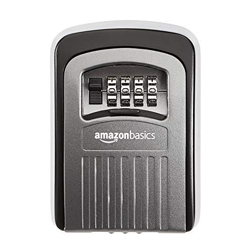 Amazon Basics 4-Digit Key Storage Lock Box, Black/Grey, 1-Pack