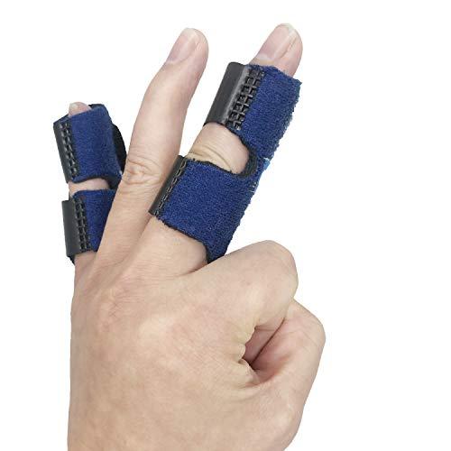Small Trigger Finger Splint - 2 Pack - GenetGo Pinkie Finger Brace for Broken Finger, Finger Knuckle Immobilization for Arthritis Pain, Sport Injuries